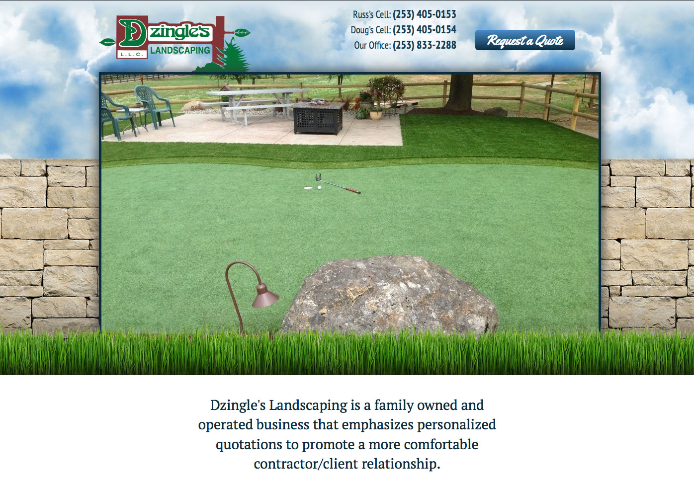 Dzingle's Landscaping LLC | Aquatic Gardens, Synthetic Turf, Flagstone,  Hardscapes and More — Serving the Auburn and Seattle Washington area - Dzingle's Landscaping LLC Aquatic Gardens, Synthetic Turf